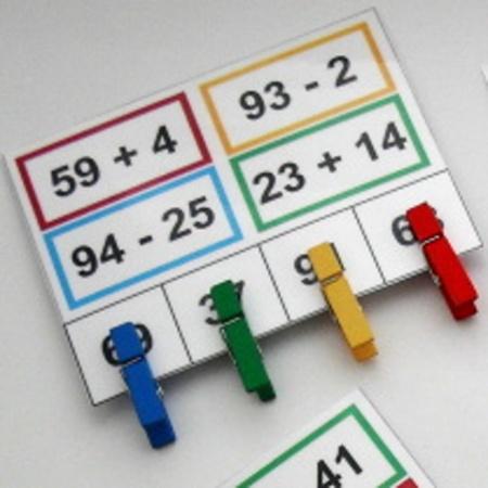 Sčítání a odčítání s kolíčky 3