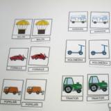 Třísložkové karty - Dopravní prostředky