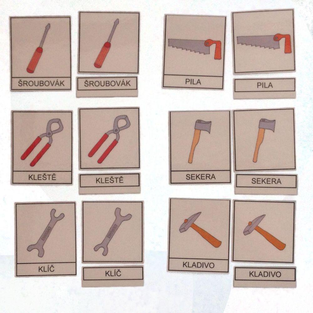 Třísložkové karty - Nářadí