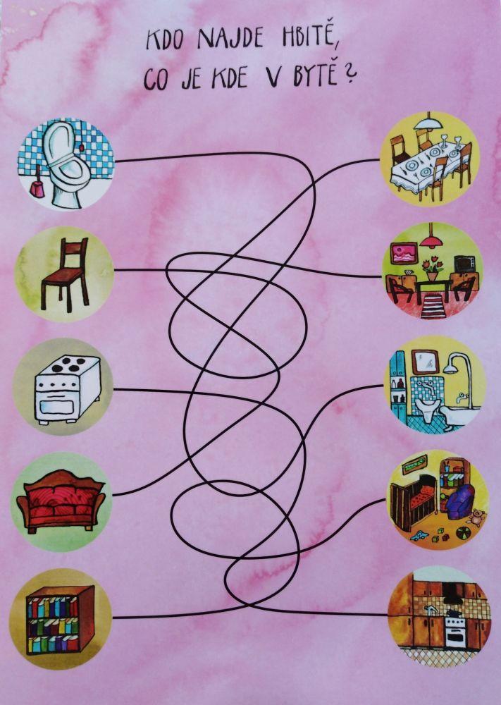 Předškolák - hbitě v bytě - stíratelná pracovní podložka