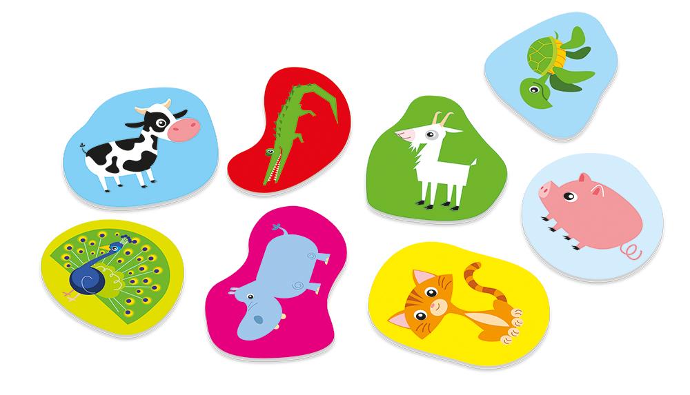 Poznávání pro nejmenší - Destičky a barvičky